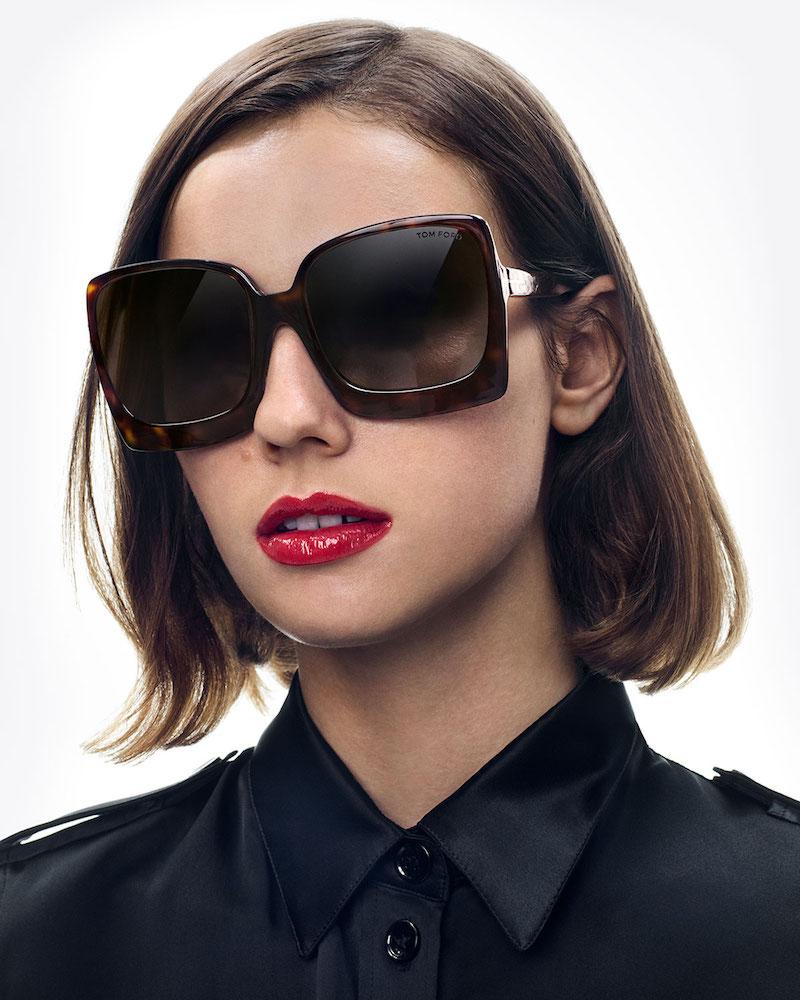 TOM FORD Katrine 02 Square Plastic Sunglasses