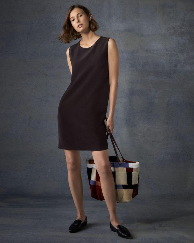 The ROW Hani Sleeveless Silk Shift Dress
