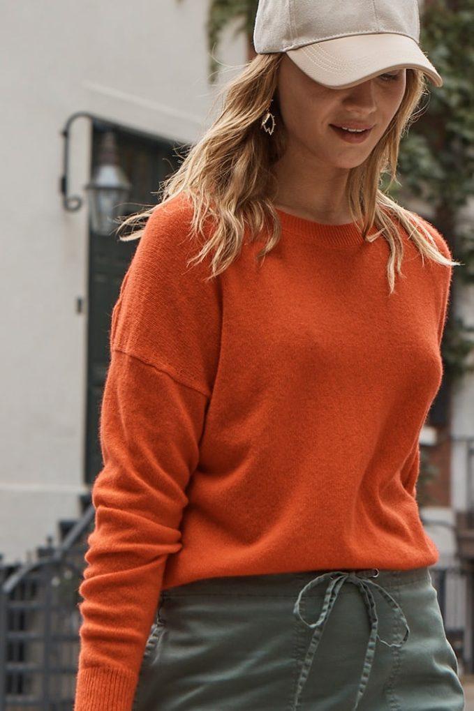 Theory Long Sleeve Karenia Crewneck Sweater