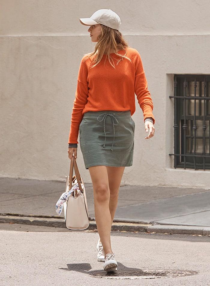 Theory Stitched Pocket Mini Skirt