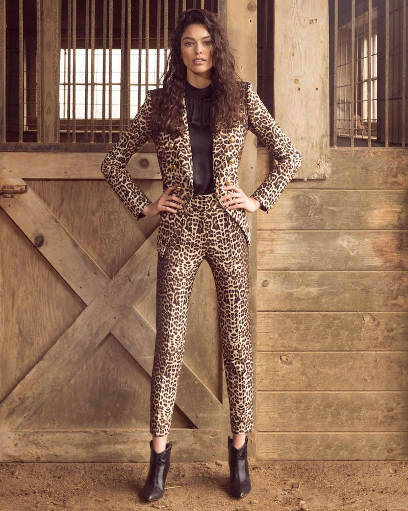 Veronica Beard Miller Double-Breasted Cheetah-Print Jacket