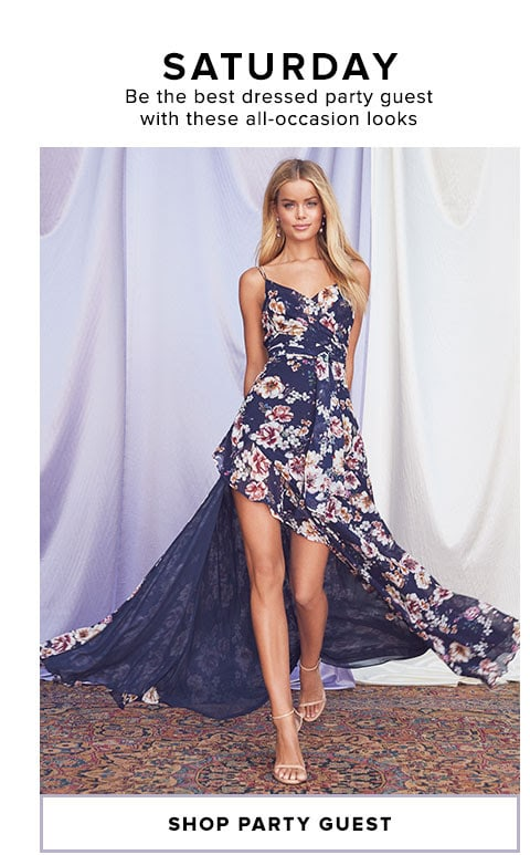 SATURDAY - Be the best dressed party guest with these all-occasion looks - Shop Party Guest