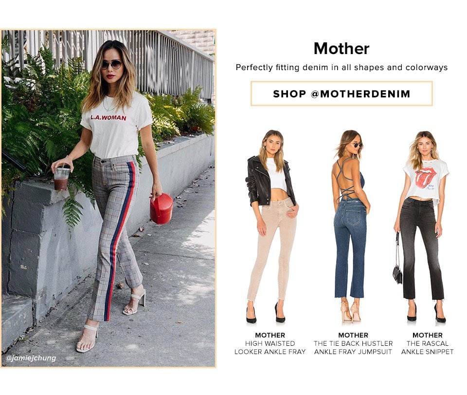 MOTHER - Perfectly fitting denim in all shapes and colorways - Shop @motherdenim