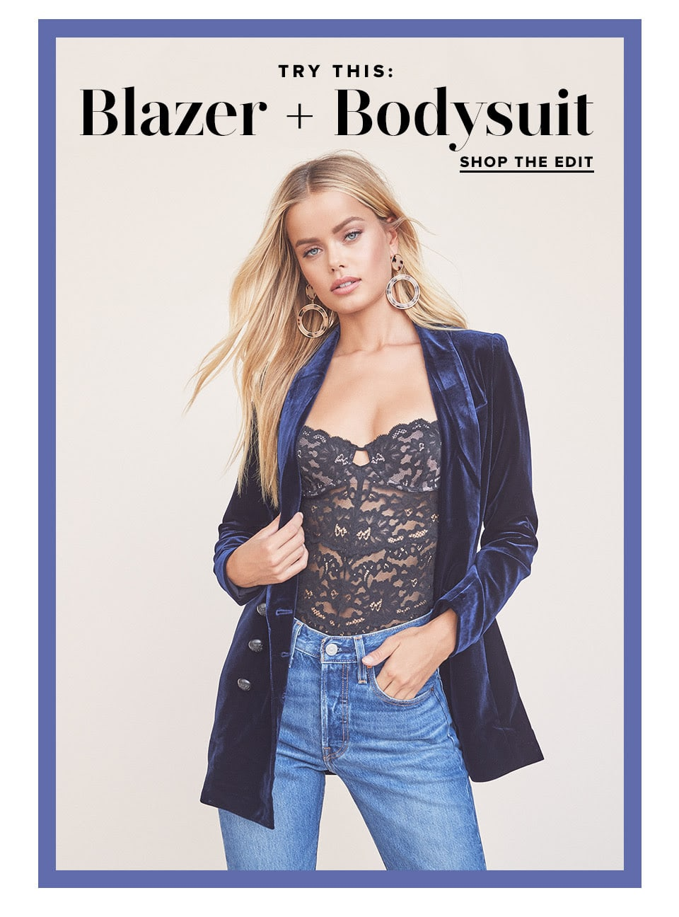 Try This: Blazer + Bodysuit. Take your chic level up a notch this fall by pairing the season's must-have blazer with a sexy bodysuit. Shop the Edit.