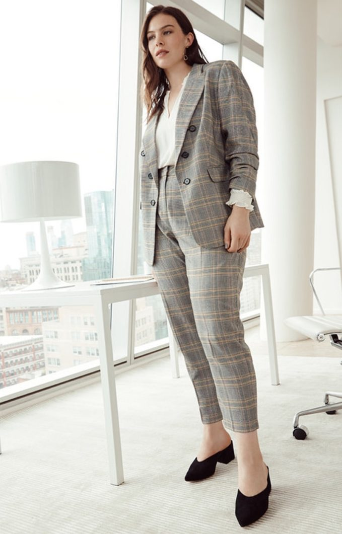 1.STATE Plaid Ankle Pants