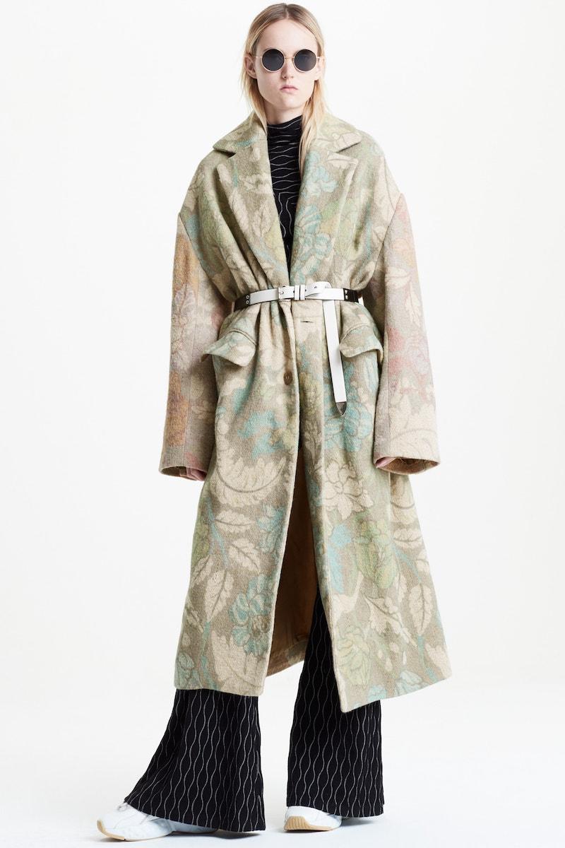 Acne Studios Floral Oversized Coat