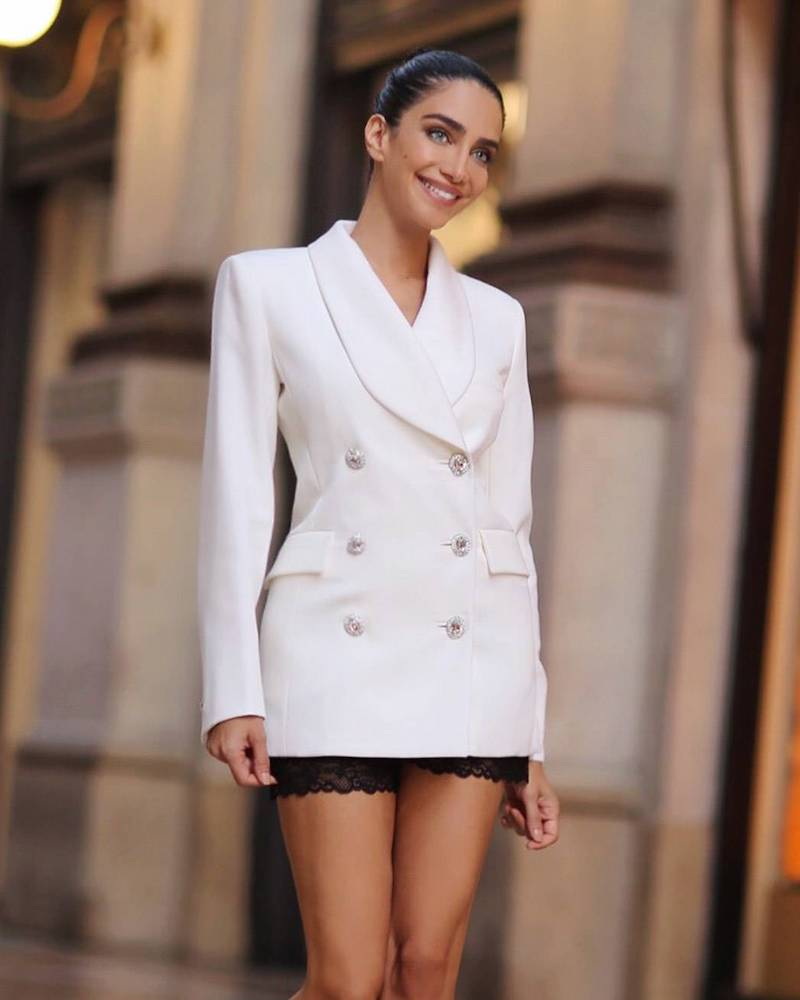 Alessandra Rich x LVR Edition Wool Blazer Dress