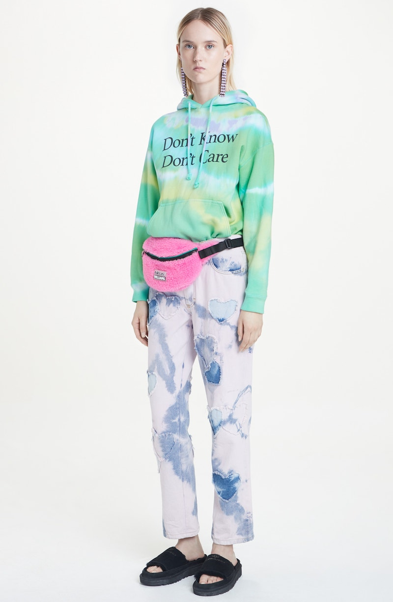 Ashley Williams Dont Know Dont Care Tie Dye Hoodie