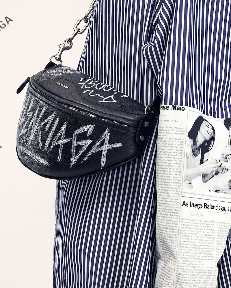 Balenciaga Graffiti-Print Fanny Belt Bag