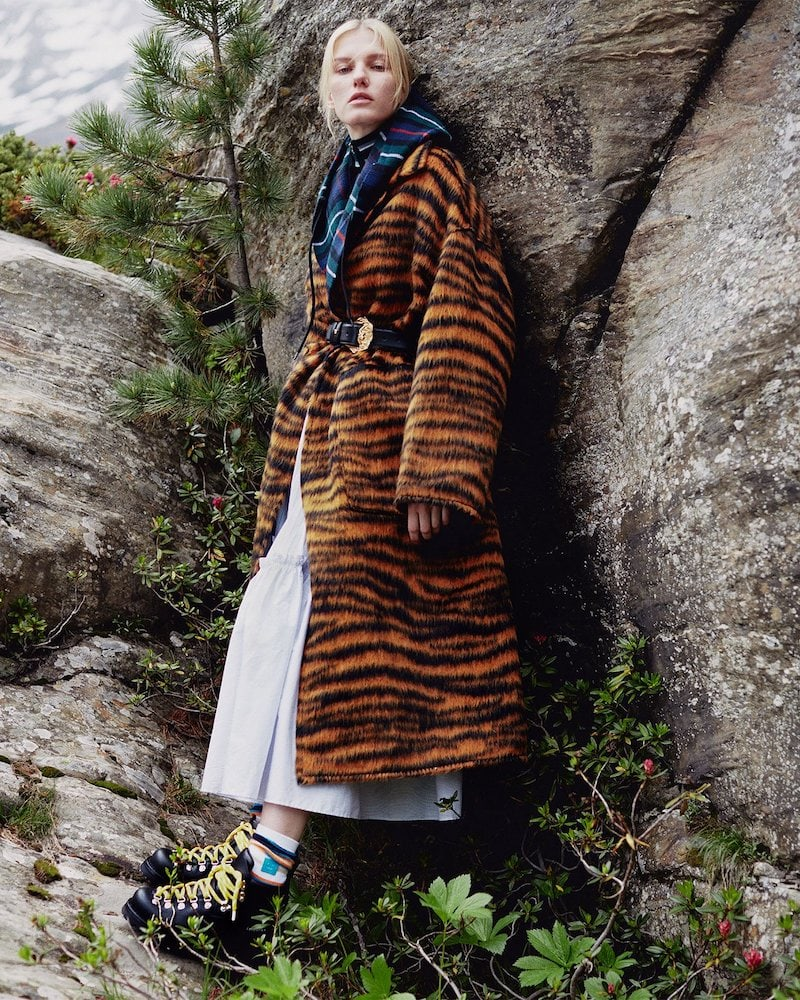 Bottega Veneta Tiger-Stripe Coat
