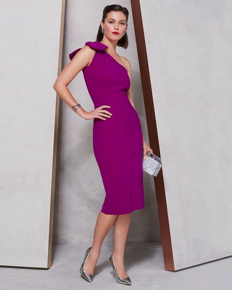 Chiara Boni La Petite Robe Goji Cutout-Back & Bow-Shoulder Dress