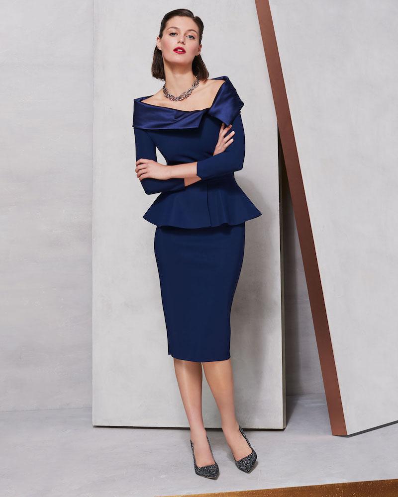 Chiara Boni La Petite Robe Sansirai Body-Con Peplum Dress
