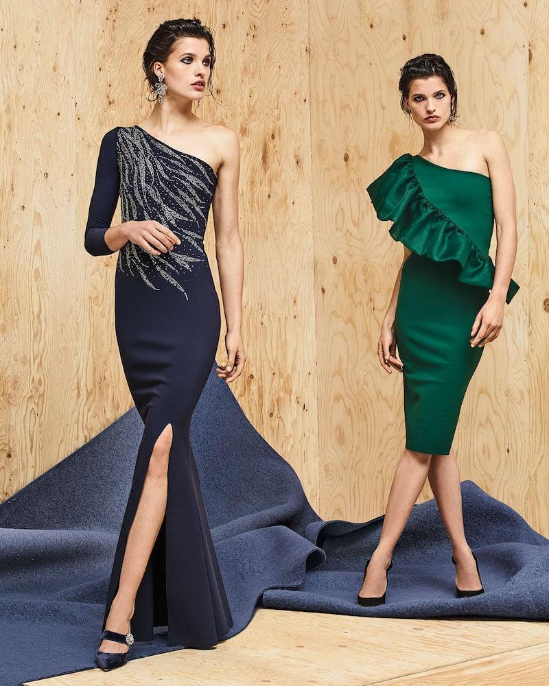 Chiara Boni La Petite Robe Siobhan Metallic 1-Shoulder Gown