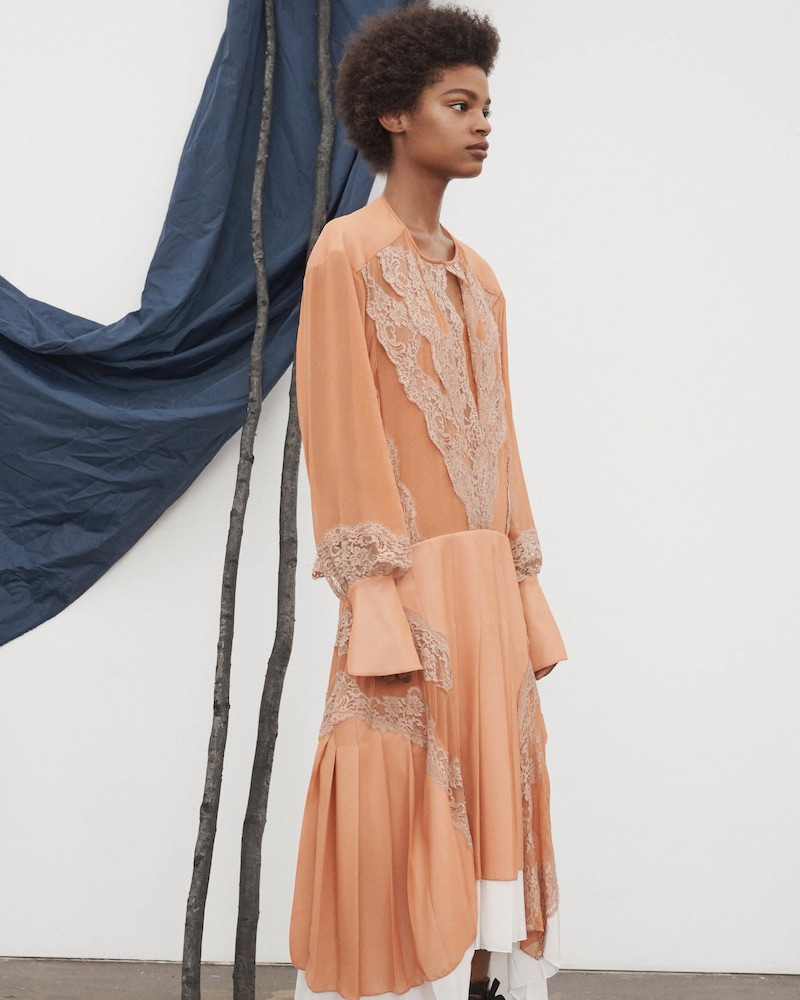 Chloé Chiffon & Organza Midi-Dress