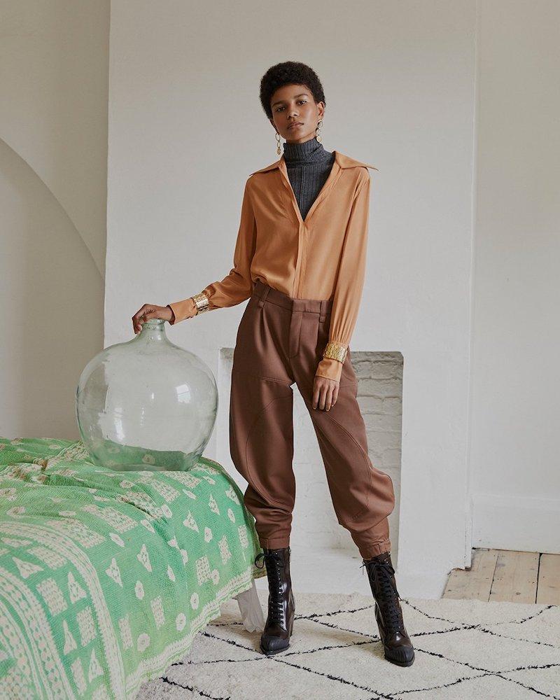 Chloé Gabardine Trousers