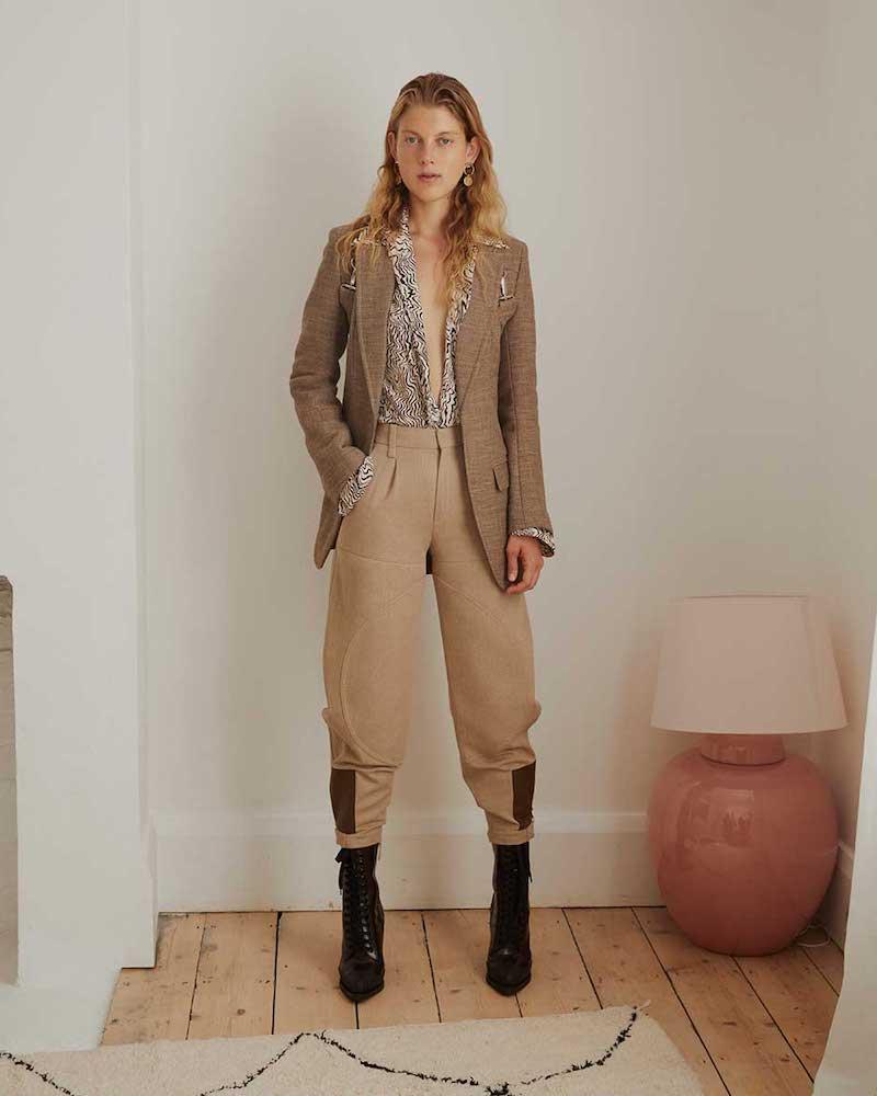 Chloé Long Tweed Harness Blazer