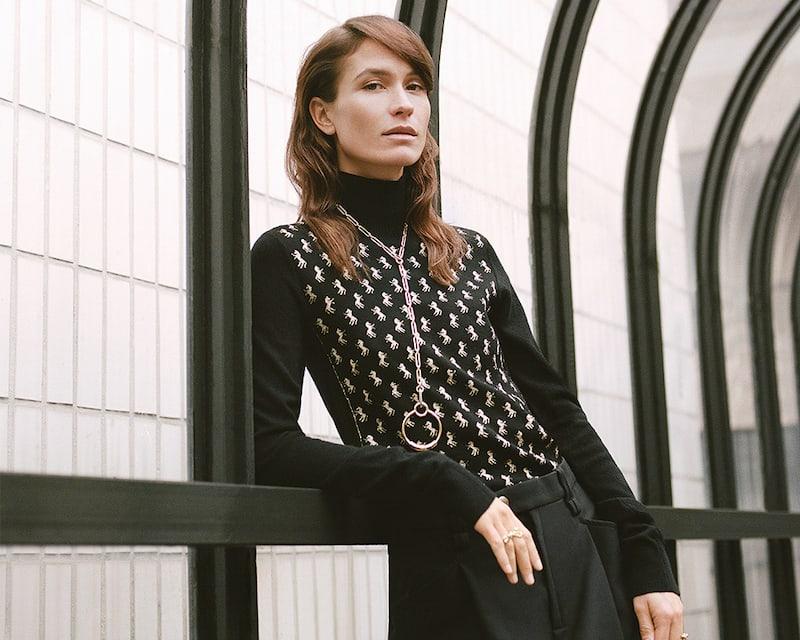 Chloé Metallic Intarsia Wool-Blend Turtleneck Sweater