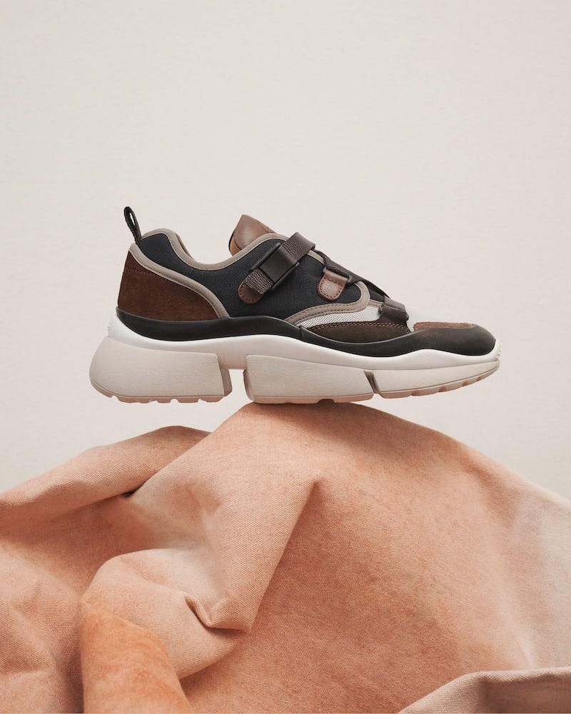Chloé Sonnie Crisscross-Strap Sneakers