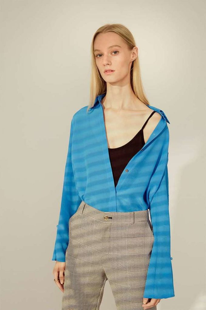 Club Monaco Gaelinda Silk Shirt