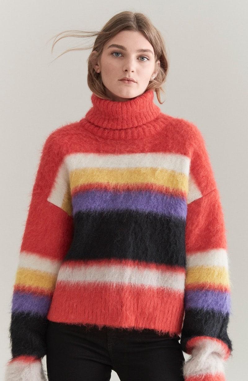 DVF Chucky Stripe Turtleneck Sweater