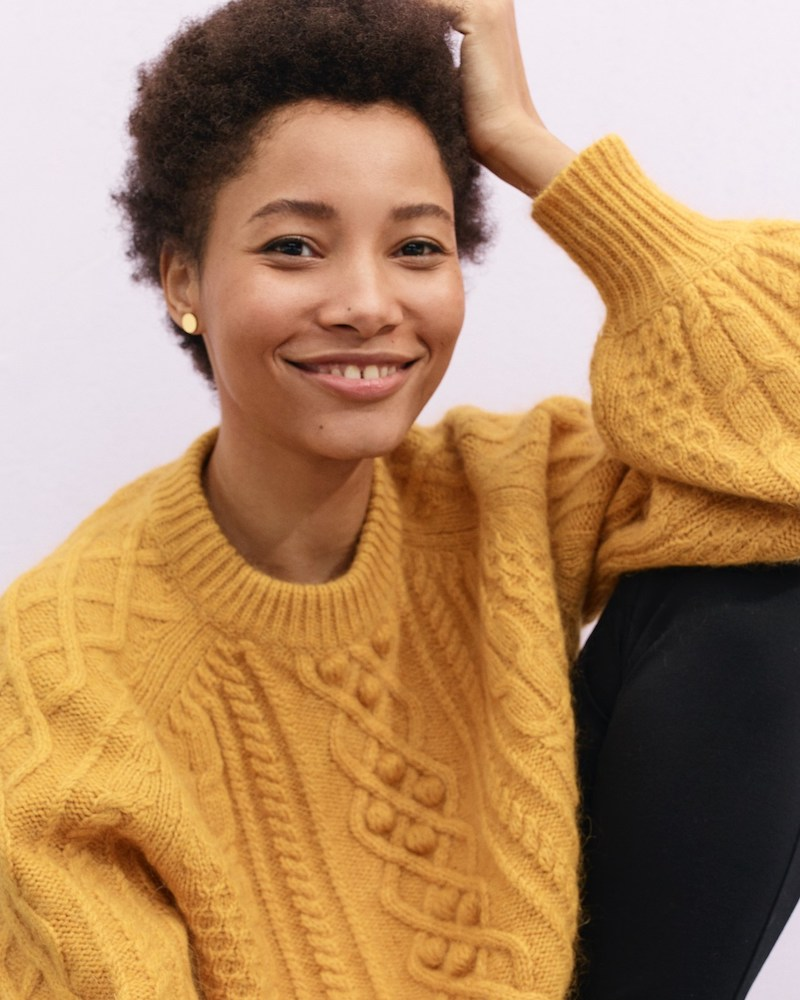 Demylee x J.Crew Balloon-Sleeve Sweater