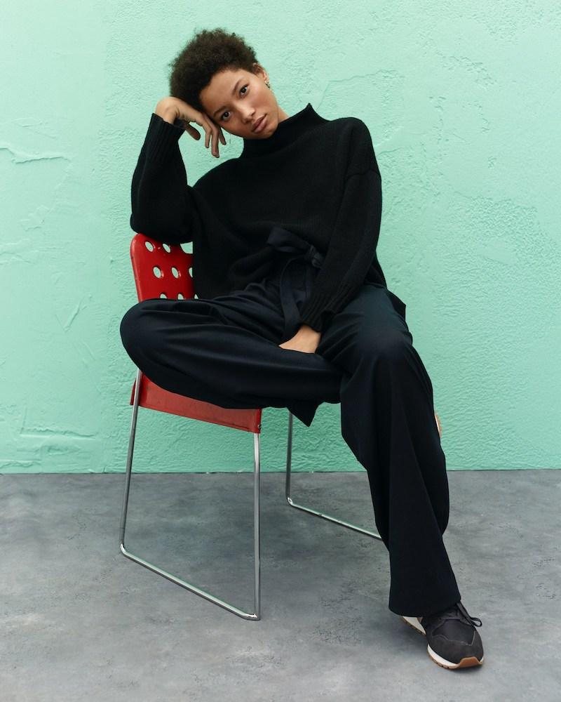 Demylee x J.Crew Boxy Rollneck Sweater