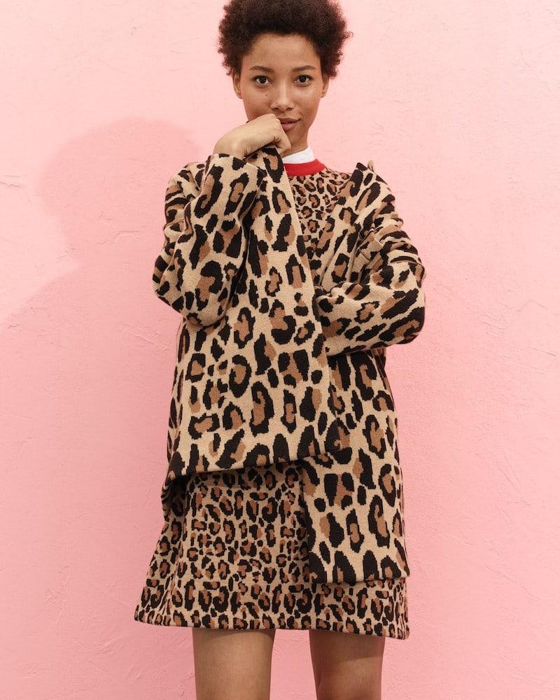 Demylee x J.Crew Leopard-Print Sweater-Dress