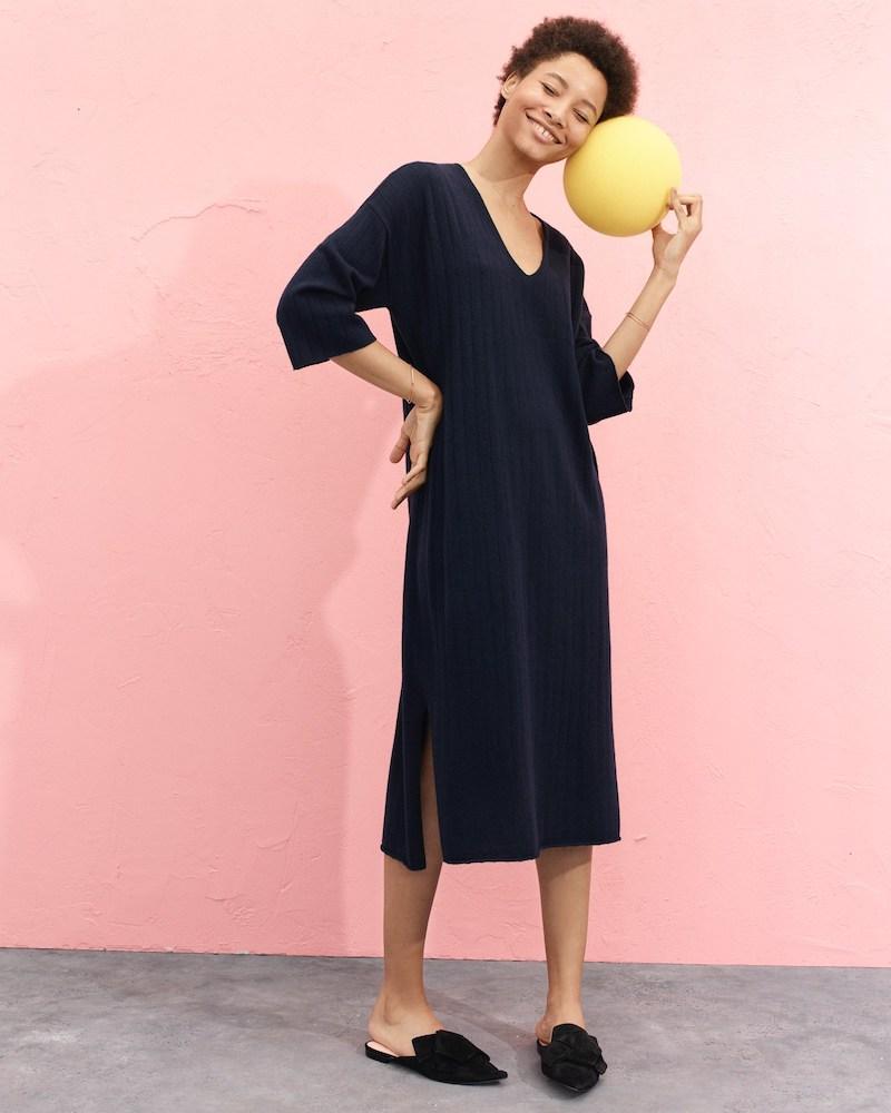 Demylee x J.Crew Ribbed Merino Wool Dress