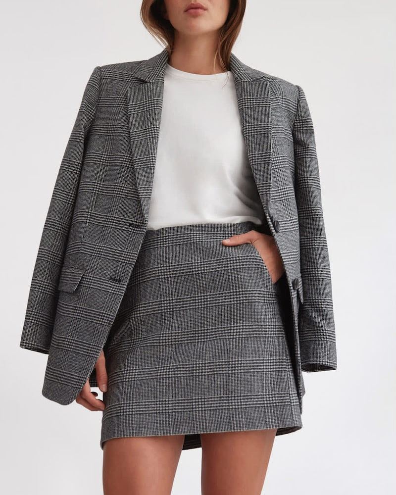 Everlane Wool Mini Skirt