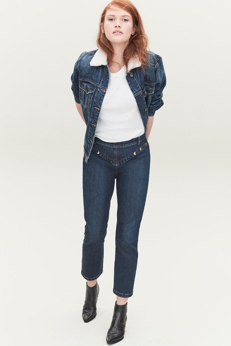 FRAME Le High Embellished Straight Jeans
