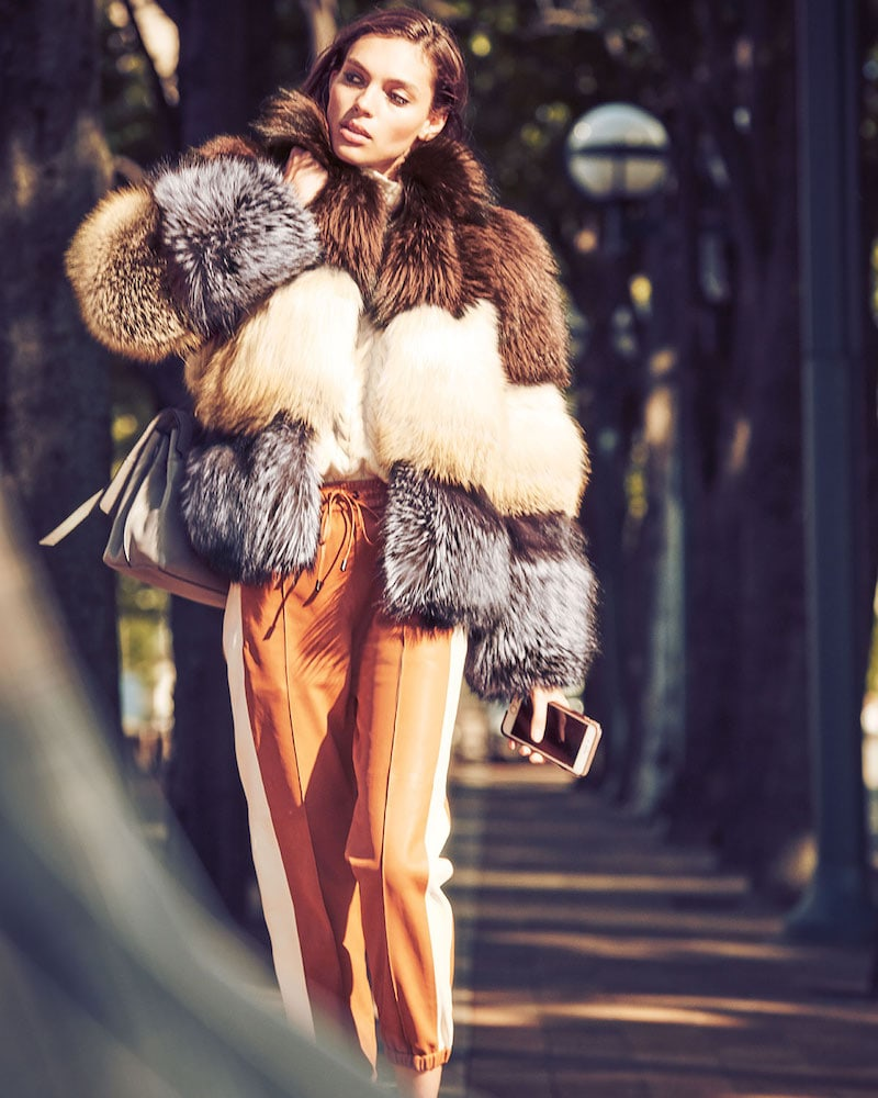 Gorski Three-Tone Fox-Fur Jacket