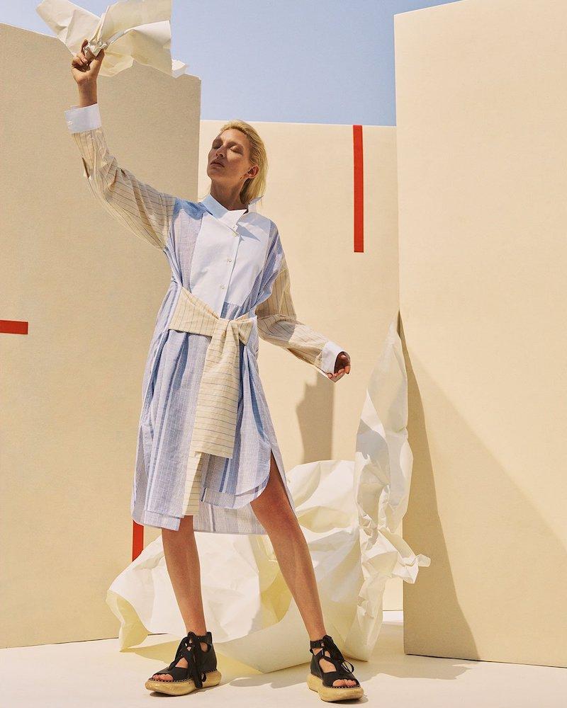 Loewe Panelled Cotton-Blend Shirtdress