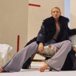 Loewe Shearling-Trim Leather Coat