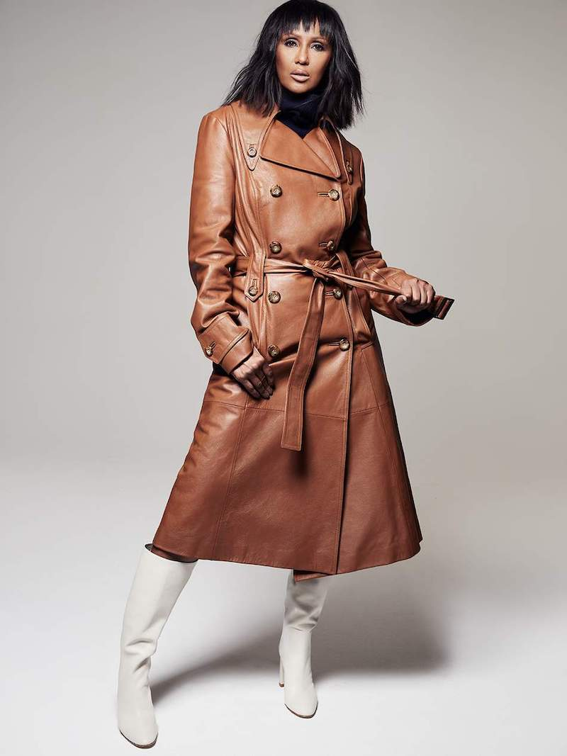 Michael Kors Collection Belted Leather Trench Coat
