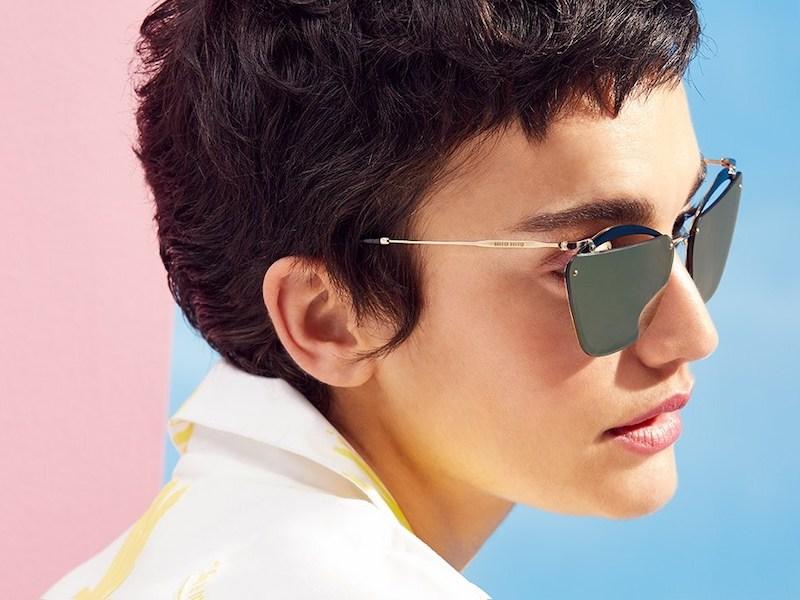 Miu Miu 64MM Polarized Clubmaster Sunglasses