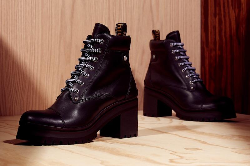 Miu Miu Lug-Sole Leather Ankle Boots