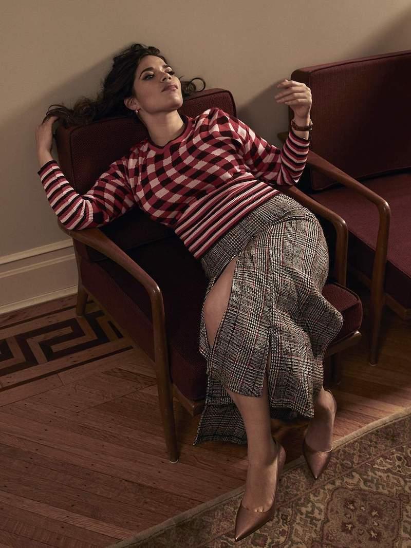 Molly Goddard Fifi Checked Cotton Sweater