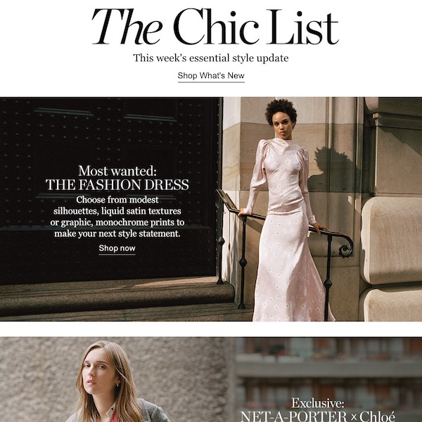 NET-A-PORTER The Chic List October 28, 2018