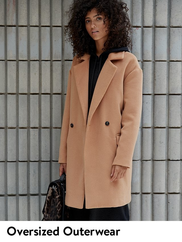 Oversized outerwear.