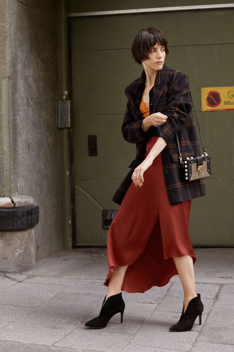 & Other Stories Asymmetric Slit Midi Skirt
