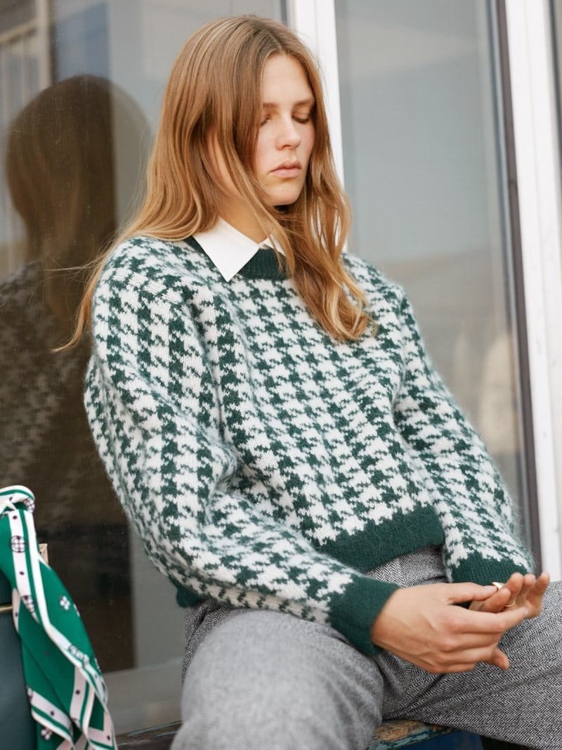 & Other Stories Houndstooth Sweater
