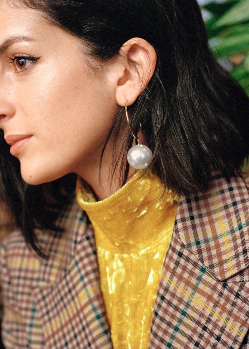 & Other Stories Jewelled Pearl Hoop Earrings