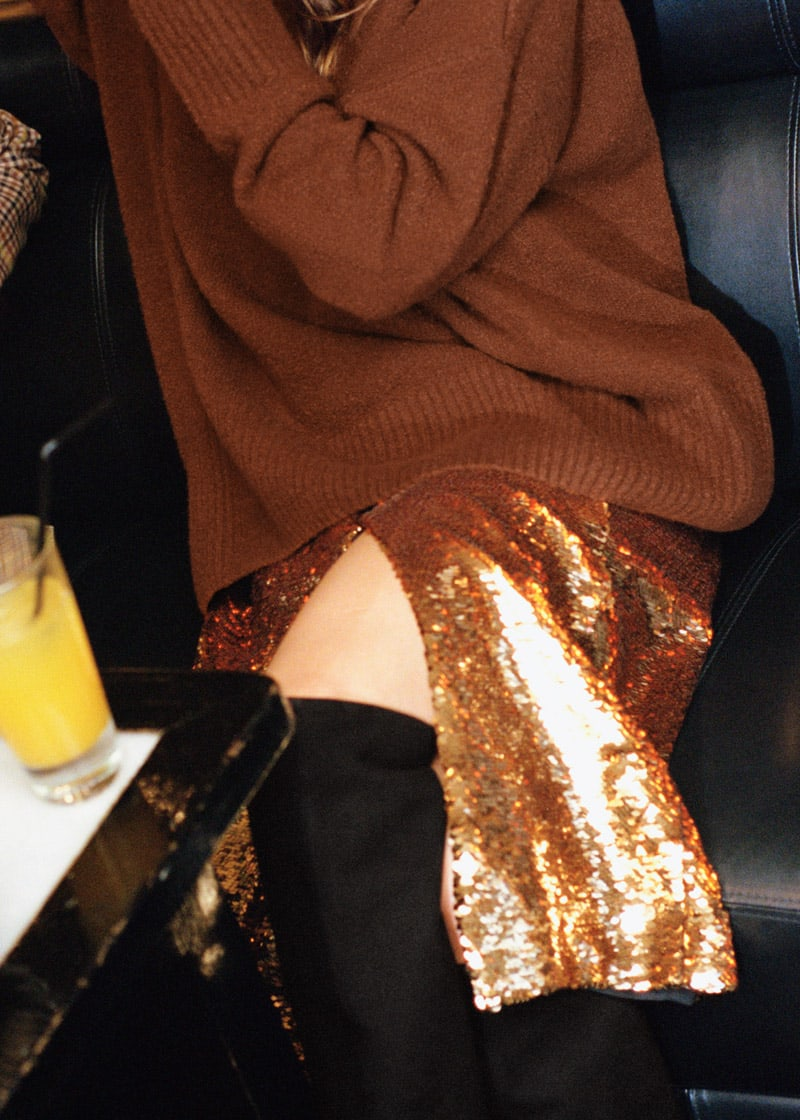 & Other Stories Sequin Skirt