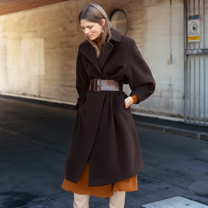& Other Stories Wool Blend Long Coat