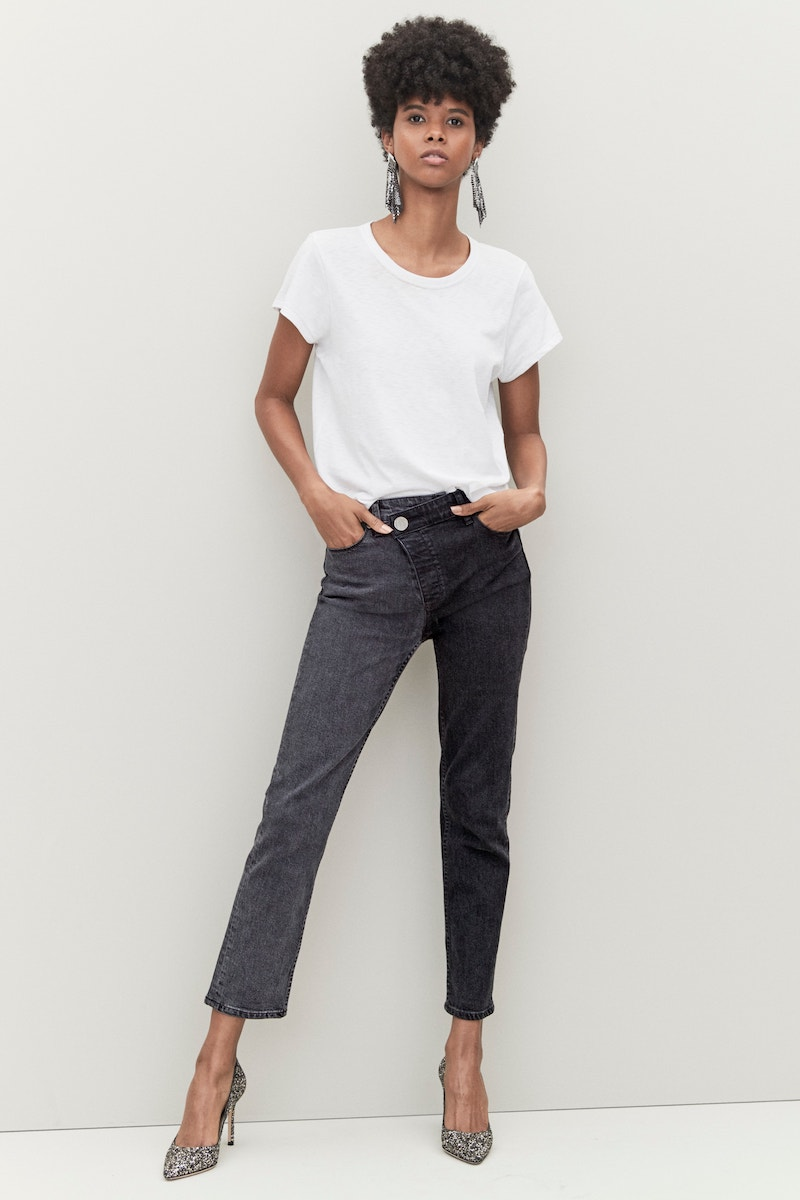 PAIGE Hoxton High Waist Ankle Straight Leg Jeans