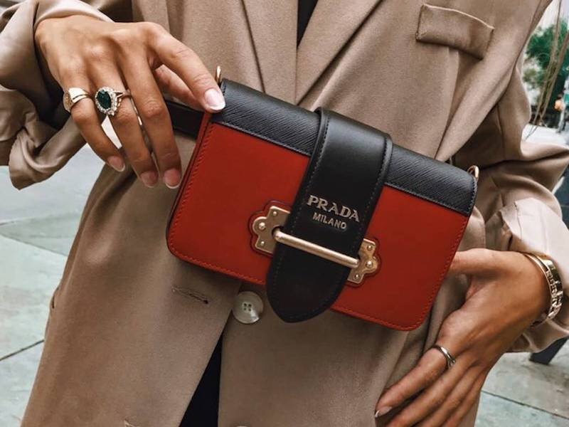 Prada Cahier Saffiano Leather Belt Pack