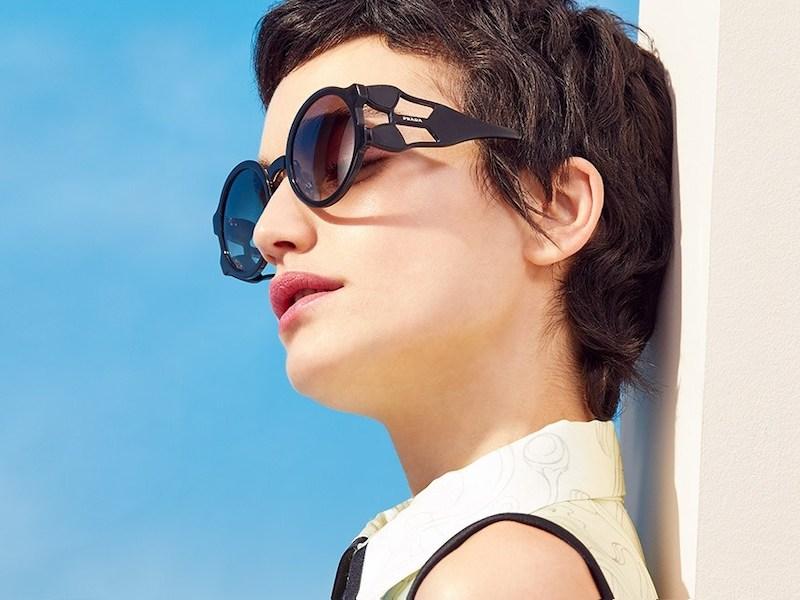 Prada Round Geometric Sunglasses