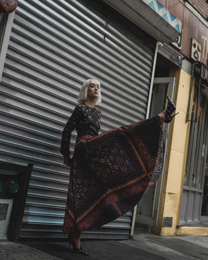 REDValentino Floral-Print Maxi Dress