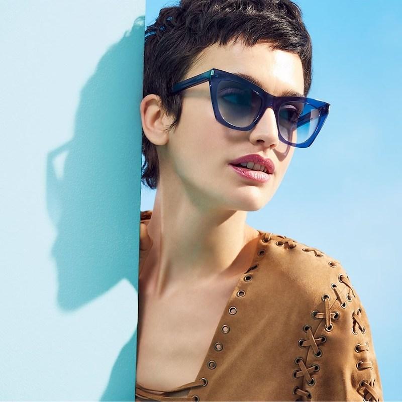 Saint Laurent 55MM Translucent Cat Eye Sunglasses