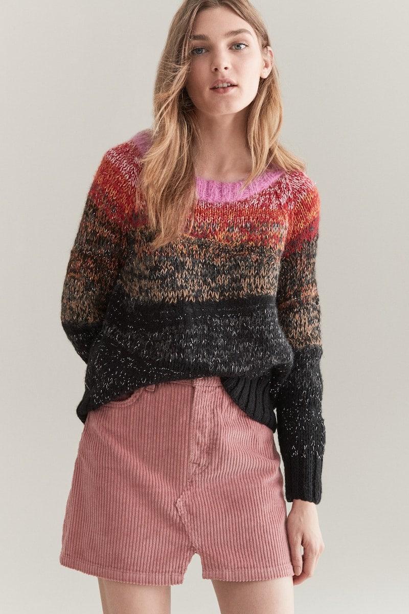 Smythe Metallic Ombré Alpaca Sweater